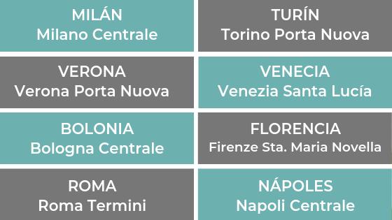 Estaciones de Tren en Italia