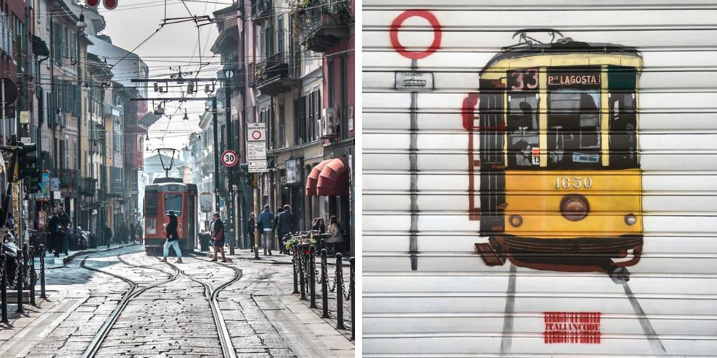 el transporte público en Milán