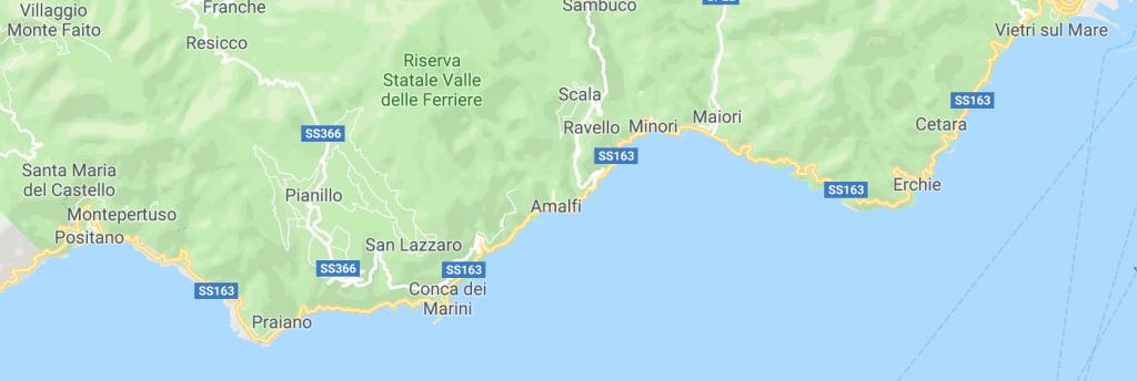 Rota por la Costa Amalfitana