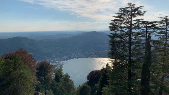 Vista desde Brunate al Lago de Como