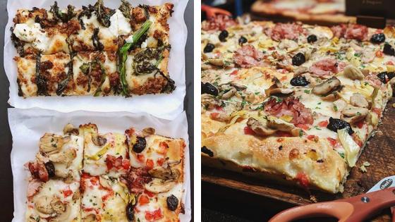 Comer pizza en Milán