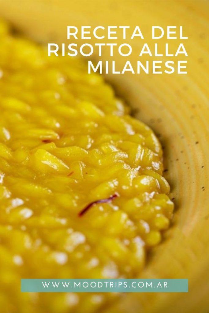 Receta risotto alla milanese