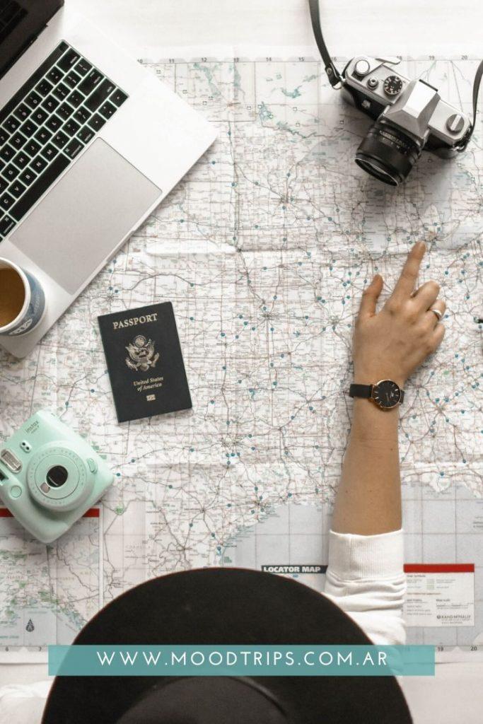 Mapas en la organización de un road trip