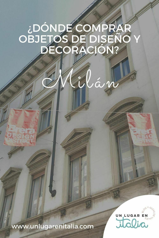 Comprar objetos de diseño en Milán